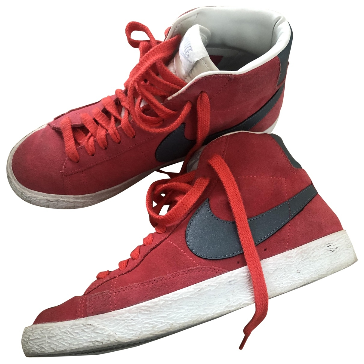 Nike Blazer Red Suede Trainers for Women 38.5 EU