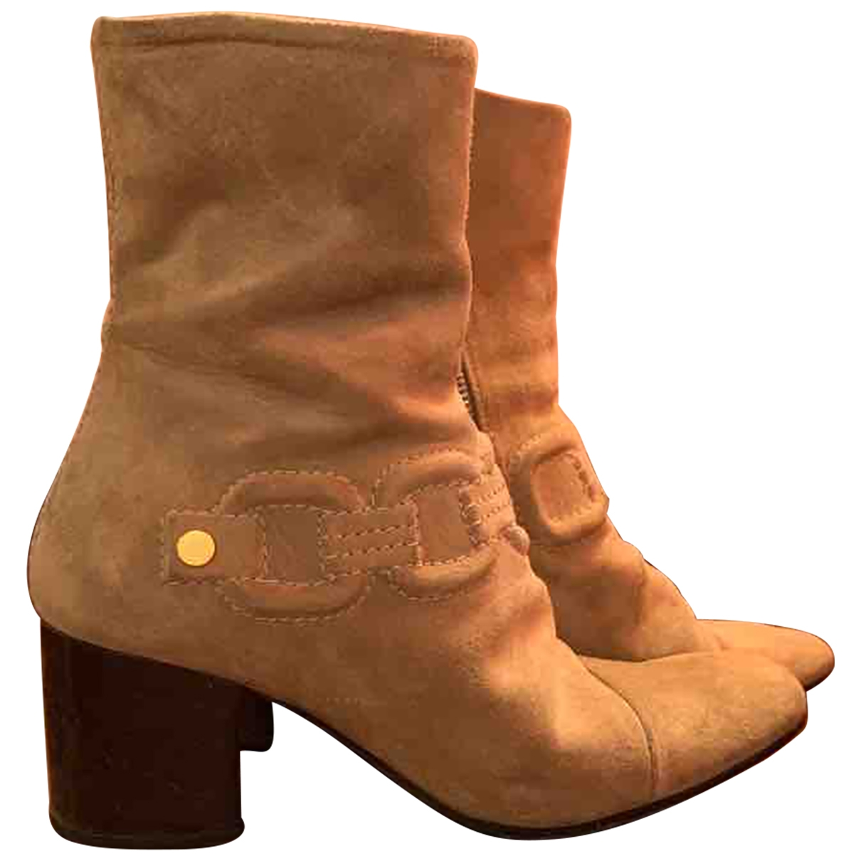 Marc Jacobs \N Beige Suede Ankle boots for Women 37 IT