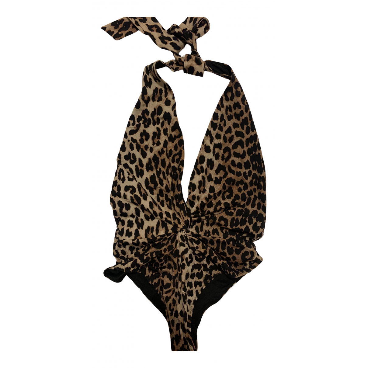 Ganni Spring Summer 2020 Brown Lycra Swimwear for Women 36 FR