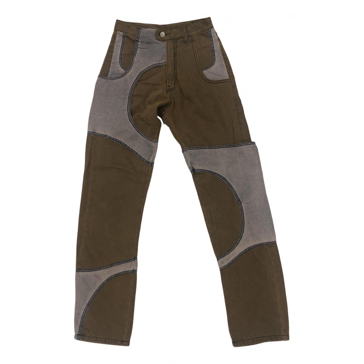 Myob Nyc \N Brown Denim - Jeans Jeans for Women 29 US