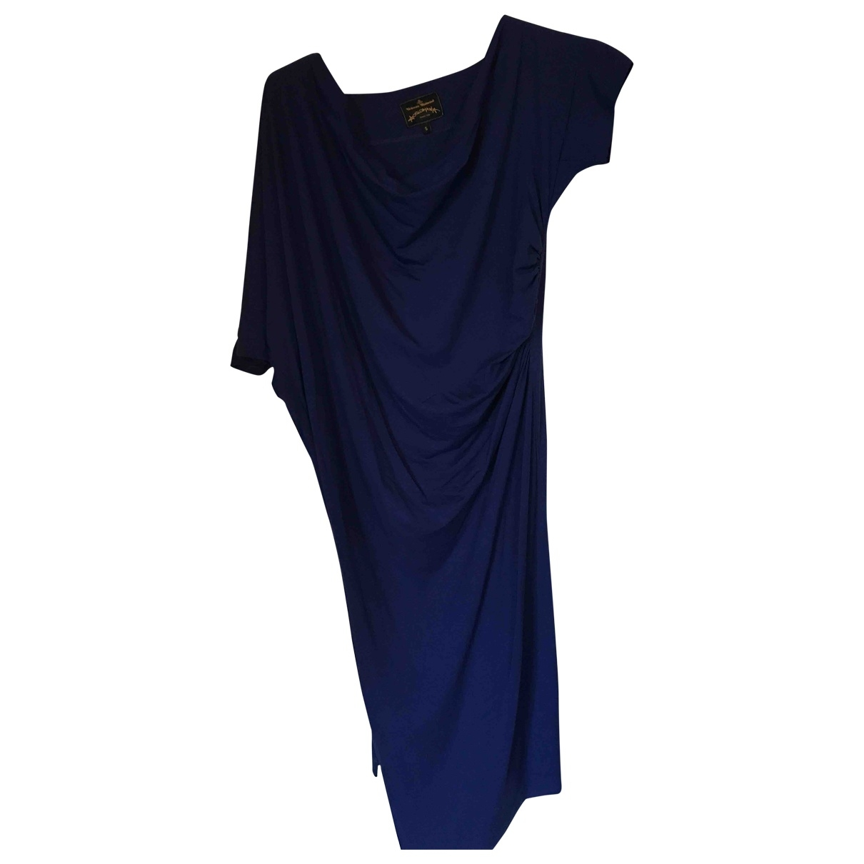 Vivienne Westwood Anglomania \N Navy Cotton - elasthane dress for Women 10 UK