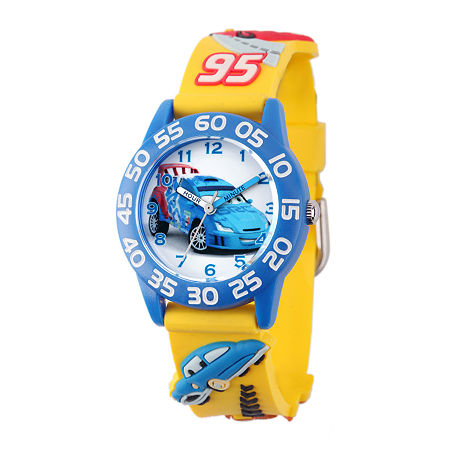 Disney Cars Easy-Read Plastic Strap Watch, One Size , No Color Family