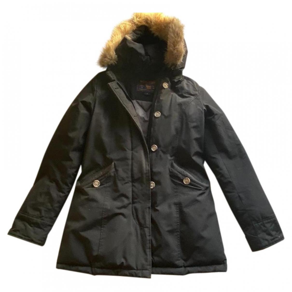 Woolrich \N Black Cotton coat for Women 40 IT