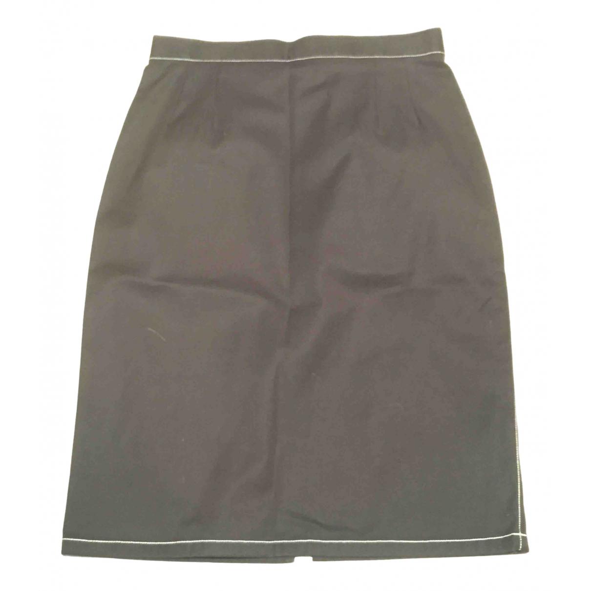 Givenchy \N Black Cotton - elasthane skirt for Women 38 FR
