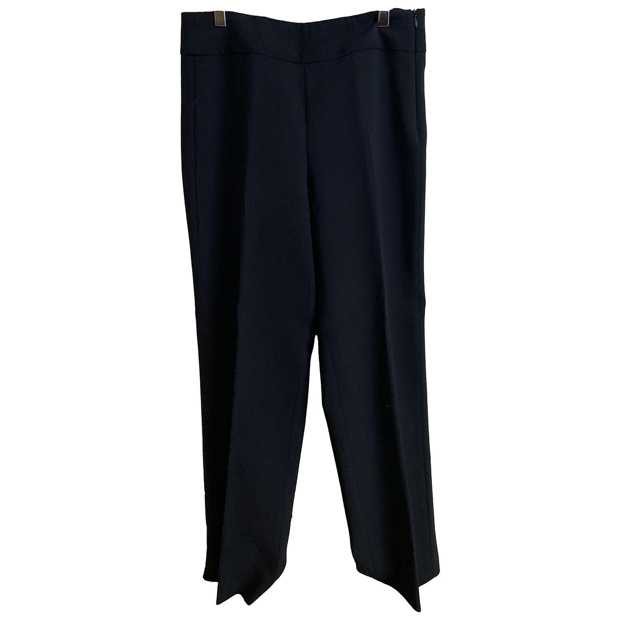 Max Mara \N Black Wool Trousers for Women 42 IT