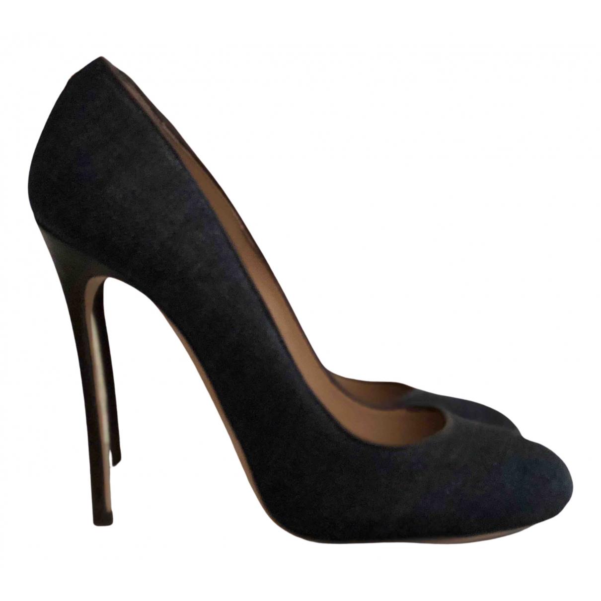 Dsquared2 \N Navy Cloth Heels for Women 37 EU