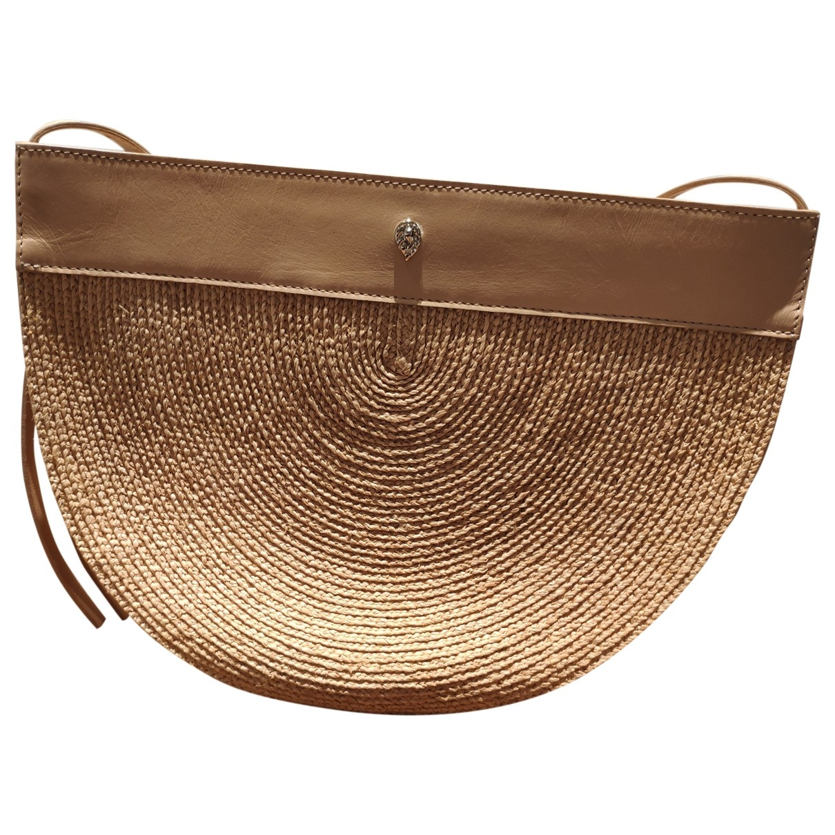 Non Signé / Unsigned \N Khaki Leather handbag for Women \N