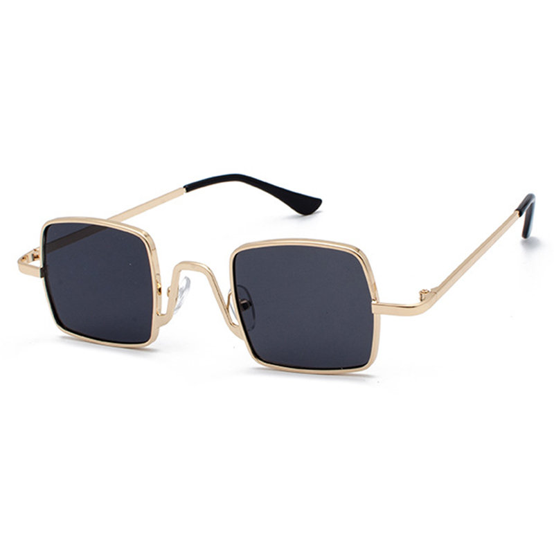 Unisex Vogue Vintage Anti-UV Metal Small Square Sunglasses Outdoor Travel Beach Sunglasses