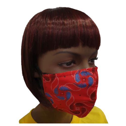 Fancy Cloth Face Mask for Adult - Red Dot Circle