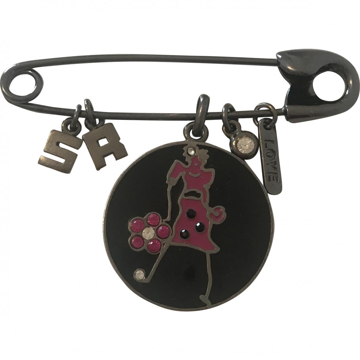 Sonia Rykiel \N Black Steel Pins & brooches for Women \N