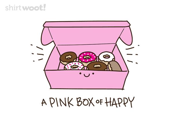 Pink Box Happy T Shirt