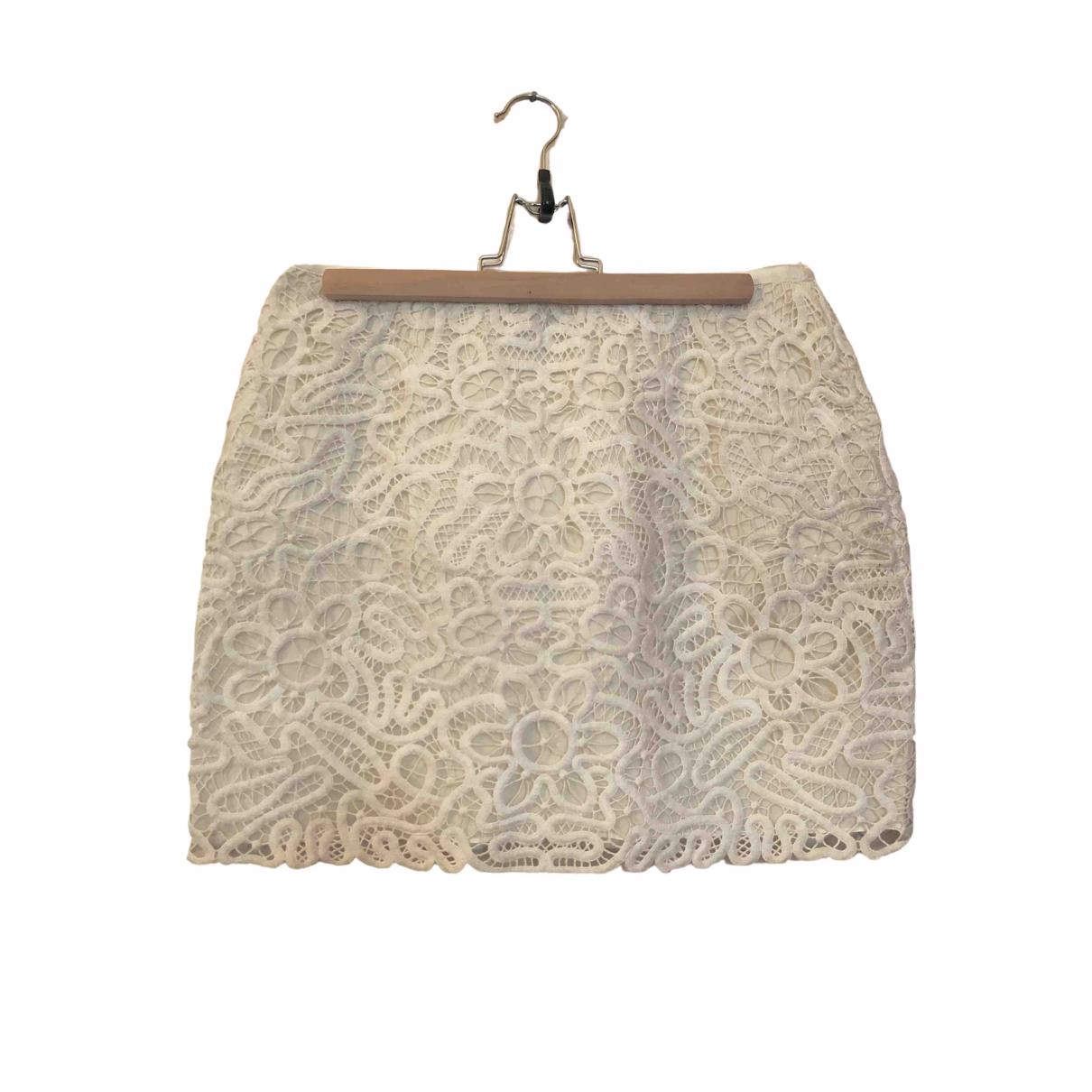 Club Monaco \N White Cotton skirt for Women 6 US