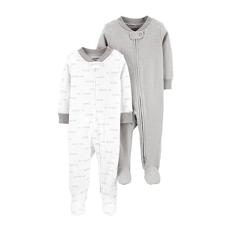 Carter's Little Baby Basics Baby Girls 2-pc. Sleep and Play, 6 Months , White