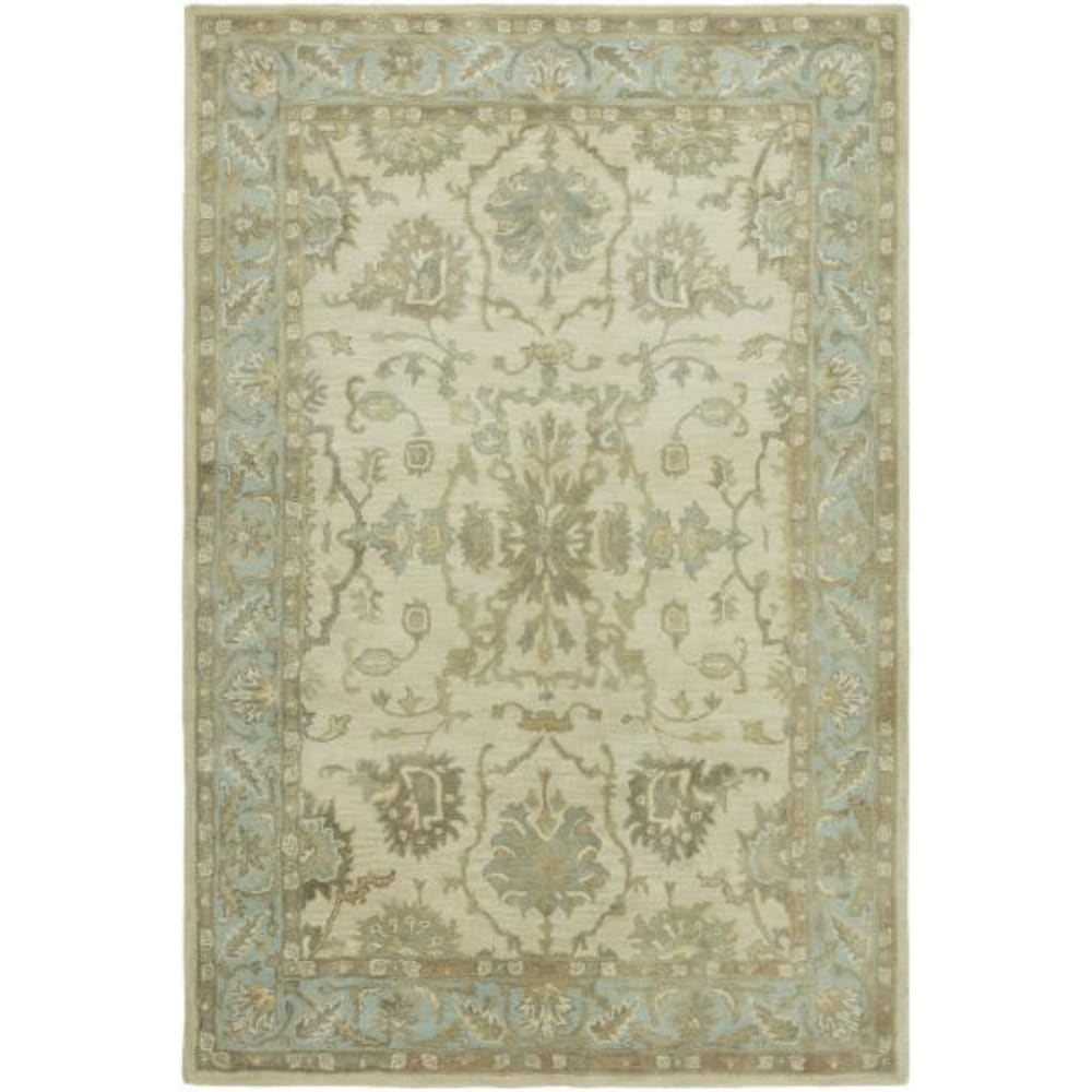 Seville Brown Wool/Viscose Hand-tufted Area Rug (Brown 8'6