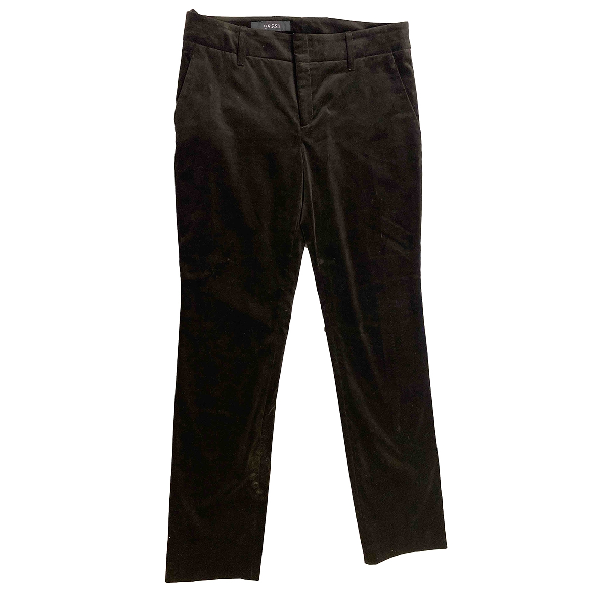 Gucci \N Brown Velvet Trousers for Women 44 IT