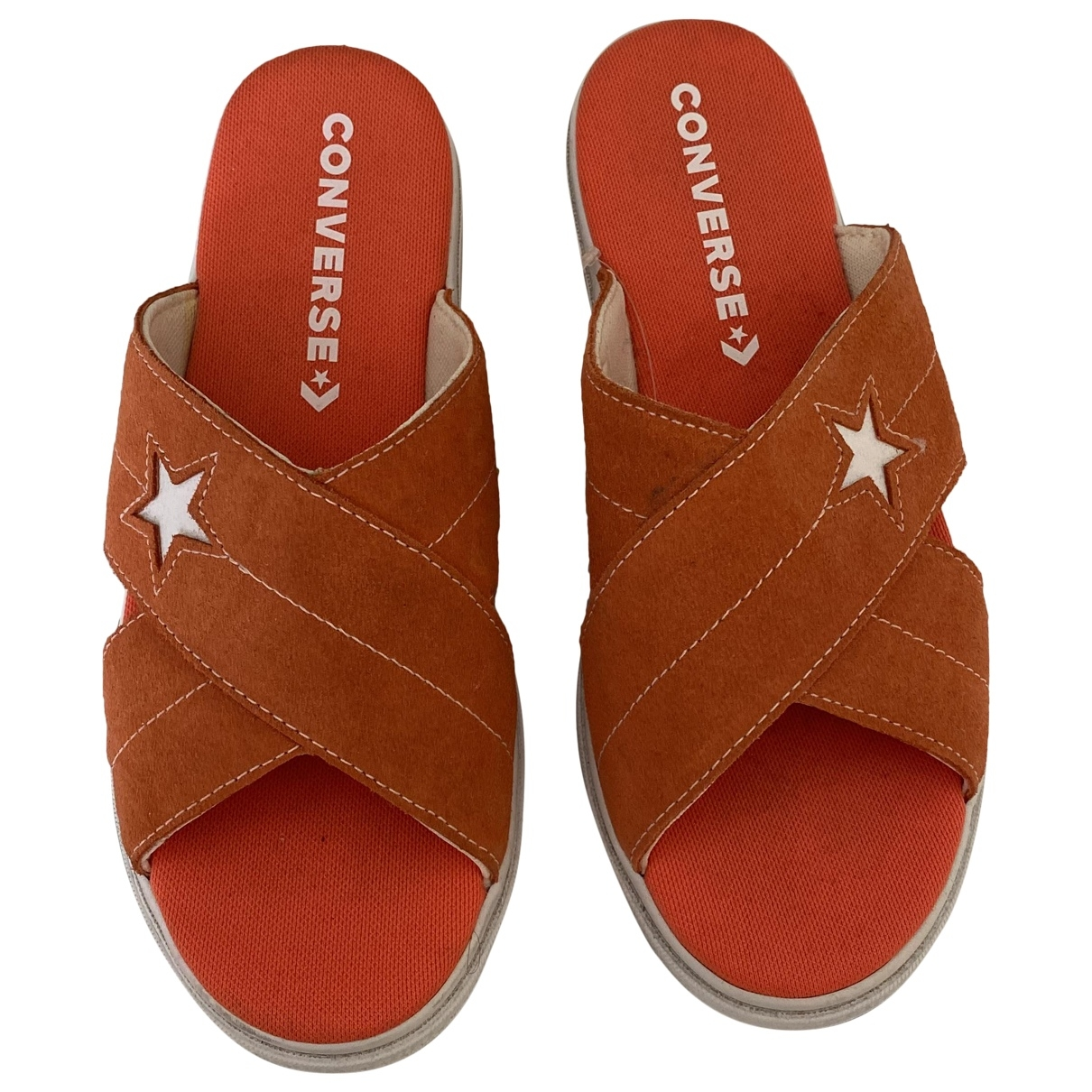 Converse \N Orange Leather Mules & Clogs for Women 6 UK