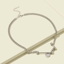 Disc Charm Chain Necklace