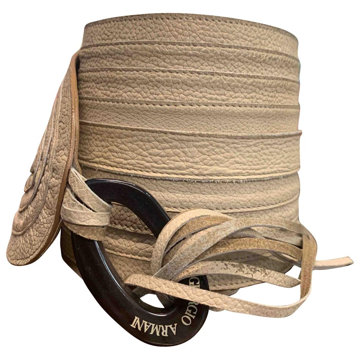 Giorgio Armani \N Beige Leather belt for Women S International