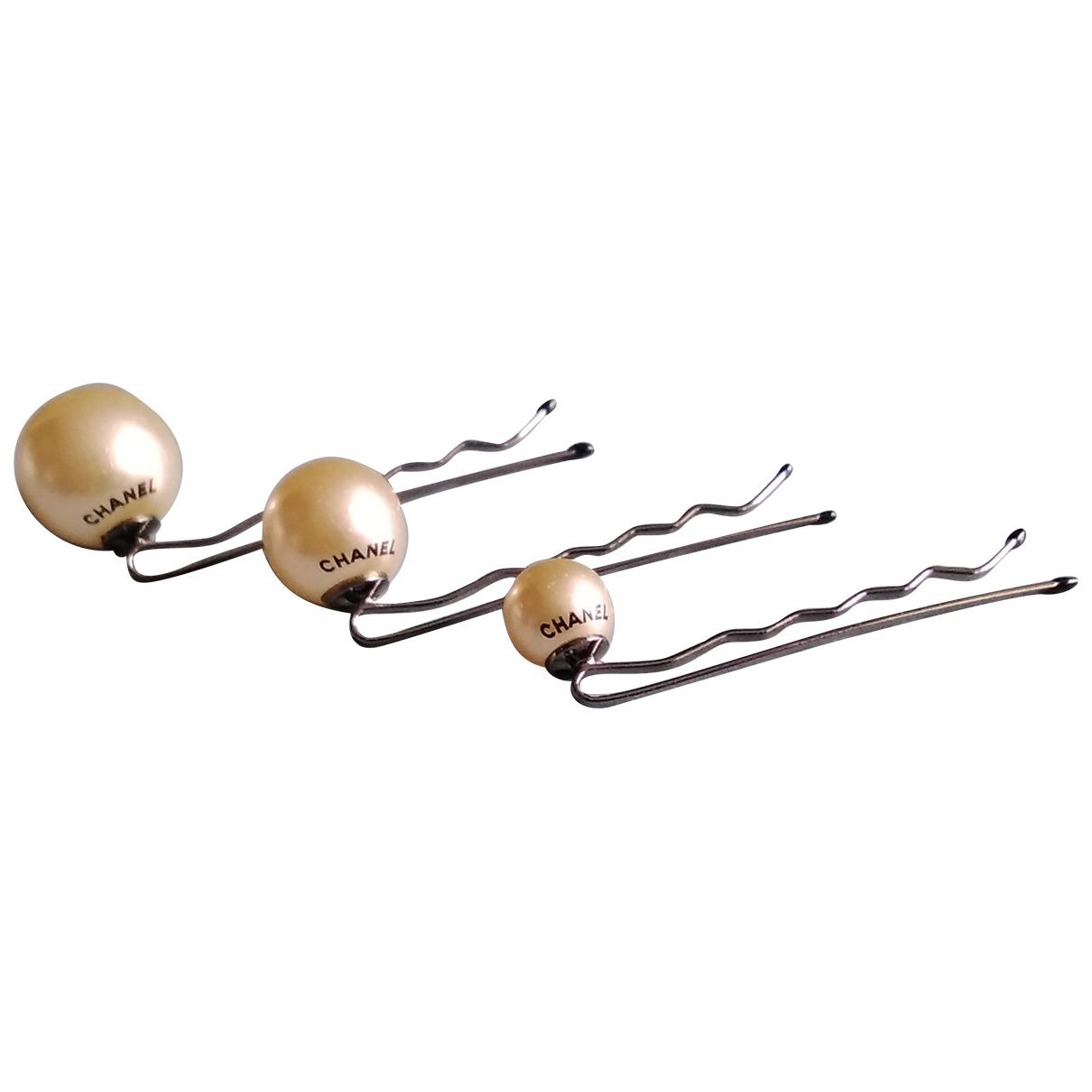 Chanel CHANEL Beige Metal Hair accessories for Women \N