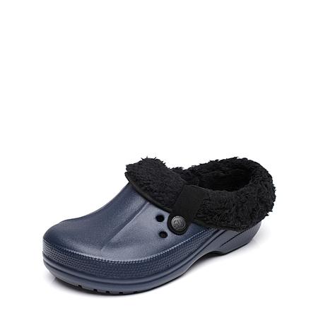 Yoins Dark Blue Clog Winter Warm Antiskid Indoor Casual House Slippers