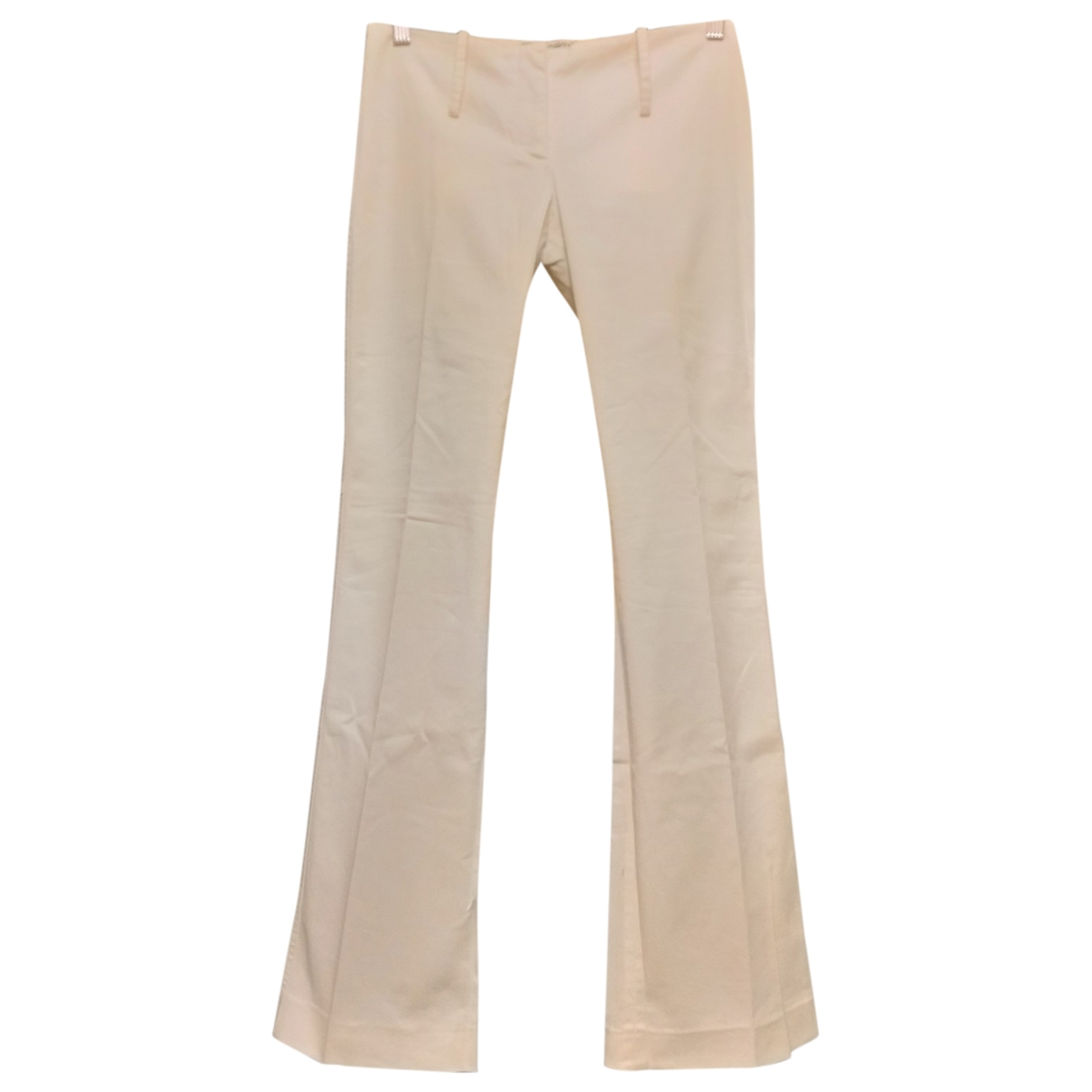 Dolce & Gabbana \N White Cotton Trousers for Women 38 IT