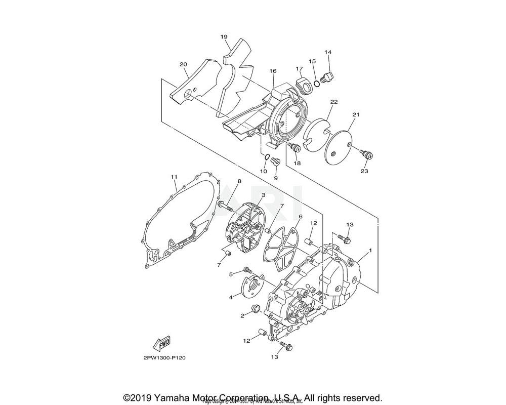 Yamaha OEM 5GJ-15453-01-00 GASKET