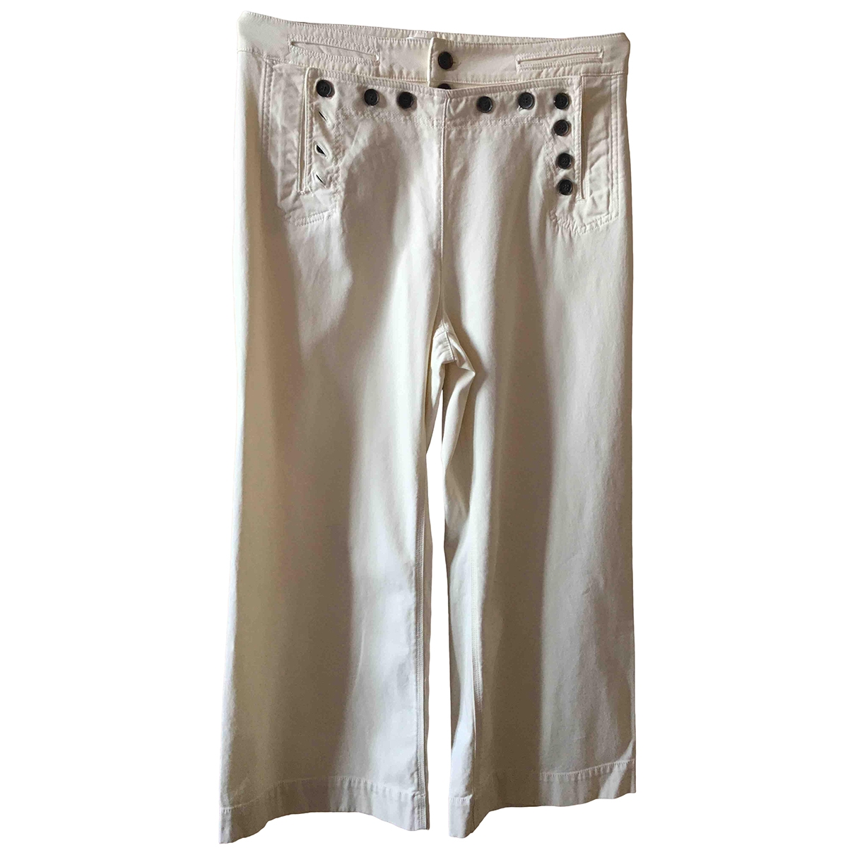 A.l.c \N Ecru Cotton Trousers for Women 8 US