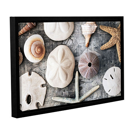 Brushstone Treasures From The Sea Gallery Wrapped Floater-Framed Canvas Wall Art, One Size , White