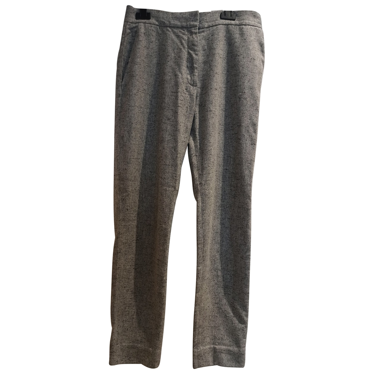 Cos \N Grey Wool Trousers for Women 36 FR