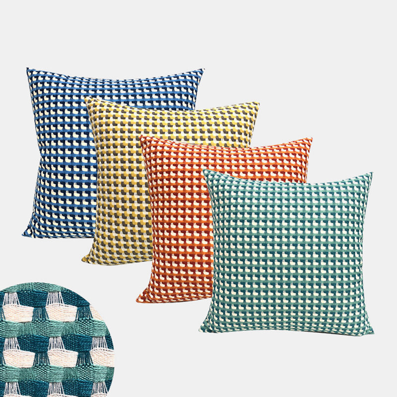 Home Jacquard Sofa Pillowcase Bedroom Bedside Cushion Office Nap Pillow