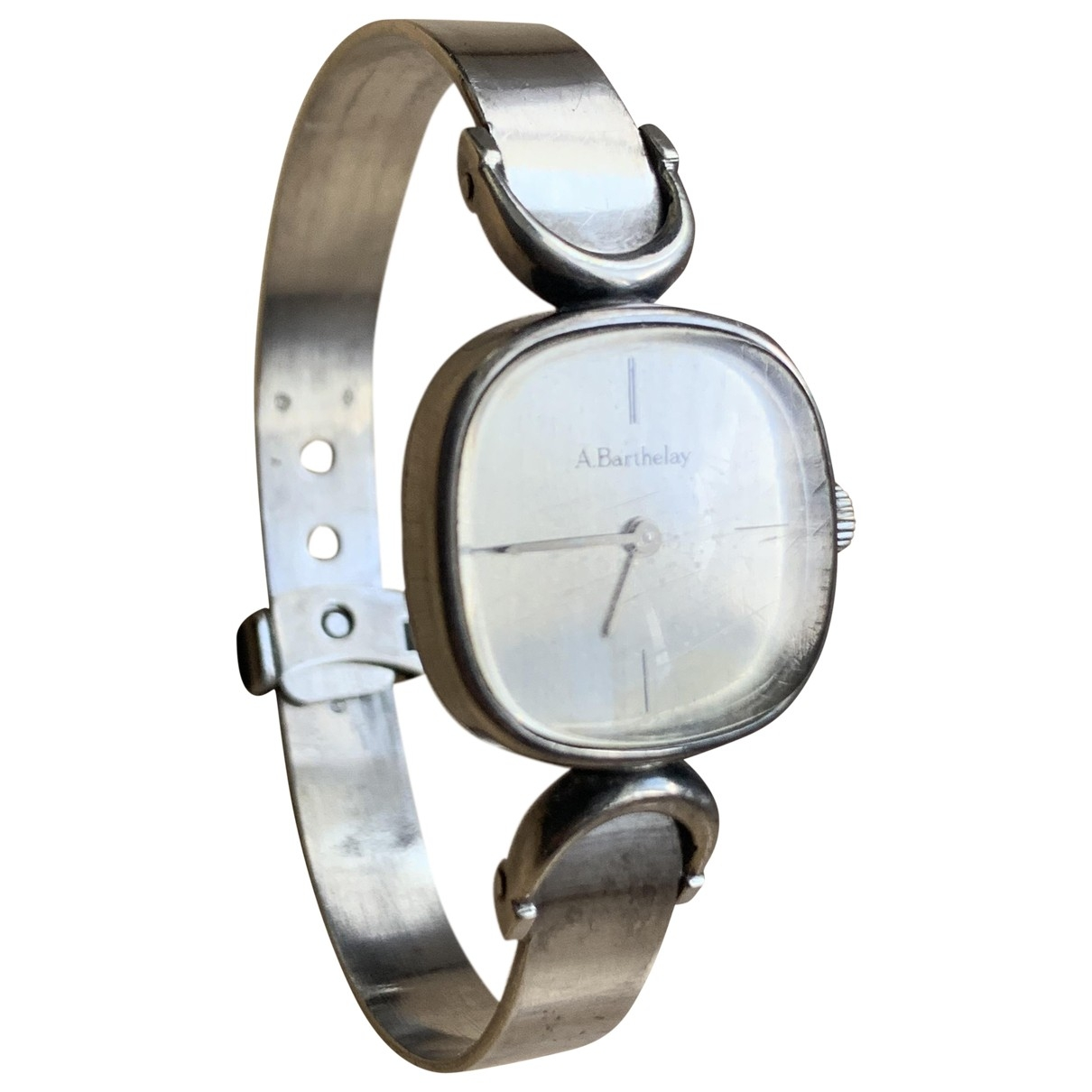Non Signé / Unsigned \N Silver Silver watch for Women \N