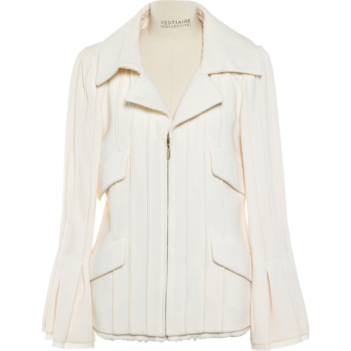 Chanel \N Ecru Wool jacket for Women 36 FR