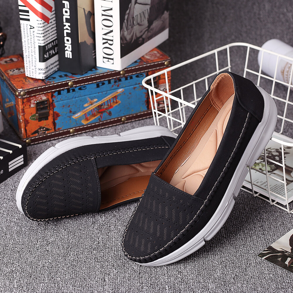 LOSTISY Handmade Stitching Soft Sole Casual Daily Women Flats