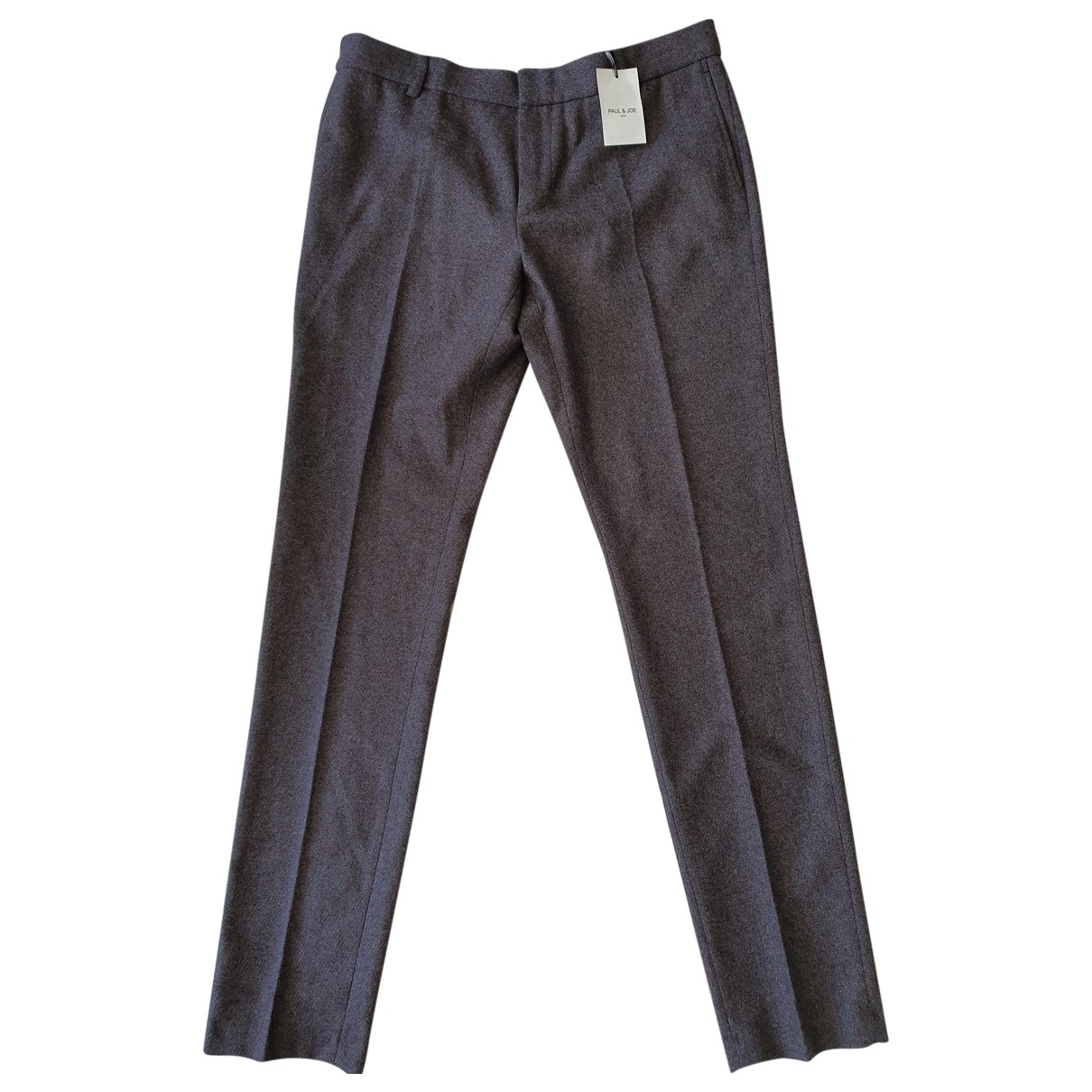 Paul & Joe \N Grey Wool Trousers for Men 44 FR