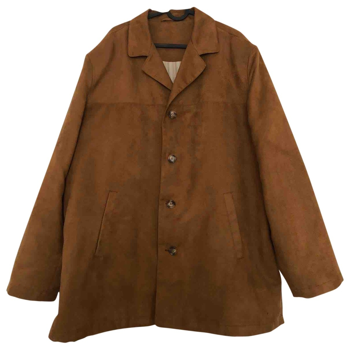 Non Signé / Unsigned Oversize Brown Suede jacket  for Men 54 FR
