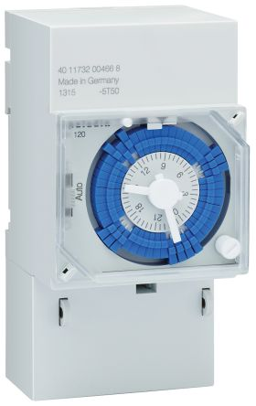 Muller 1 Channel Analogue DIN Rail Time Switch Measures Hours, 230 V