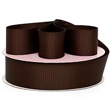 Brown Grosgrain Ribbon - 1/4 X 100 Yards - Cords by Paper Mart