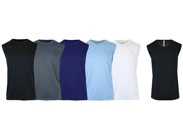 Men's Moisture Wicking Muscle Tee 5 Pk