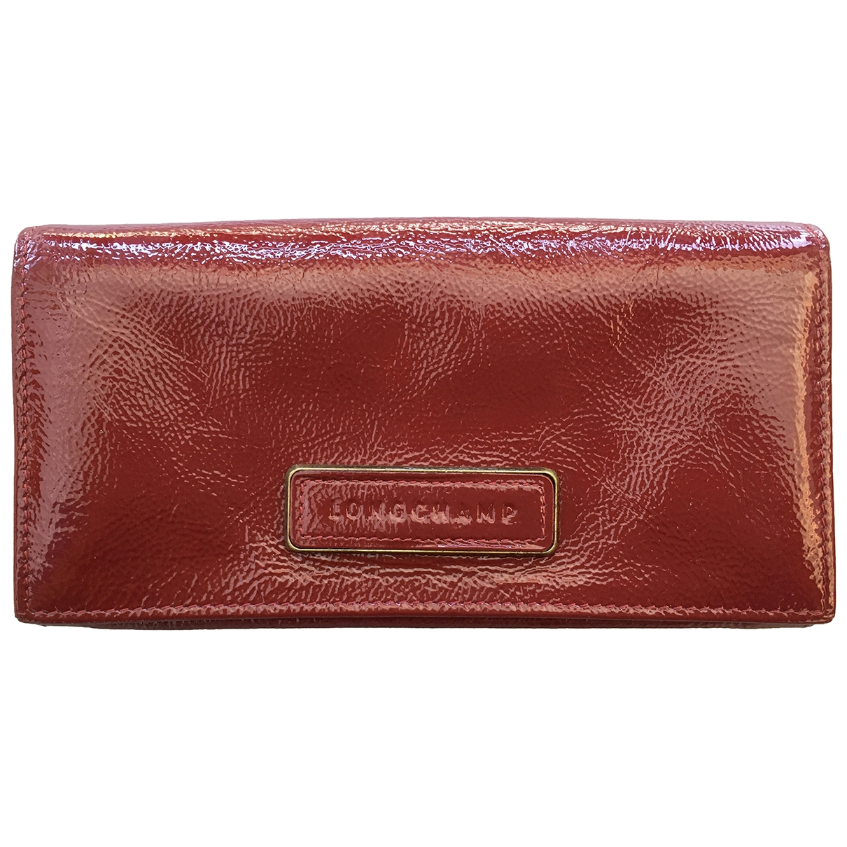 Longchamp \N Red Patent leather Purses, wallet & cases for Women \N