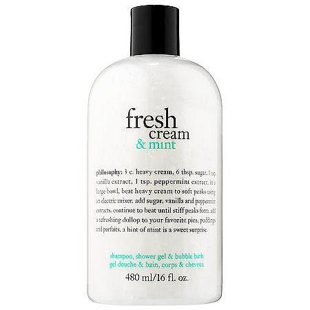 philosophy Fresh Cream & Mint Shampoo, Shower Gel & Bubble Bath, One Size , Multiple Colors