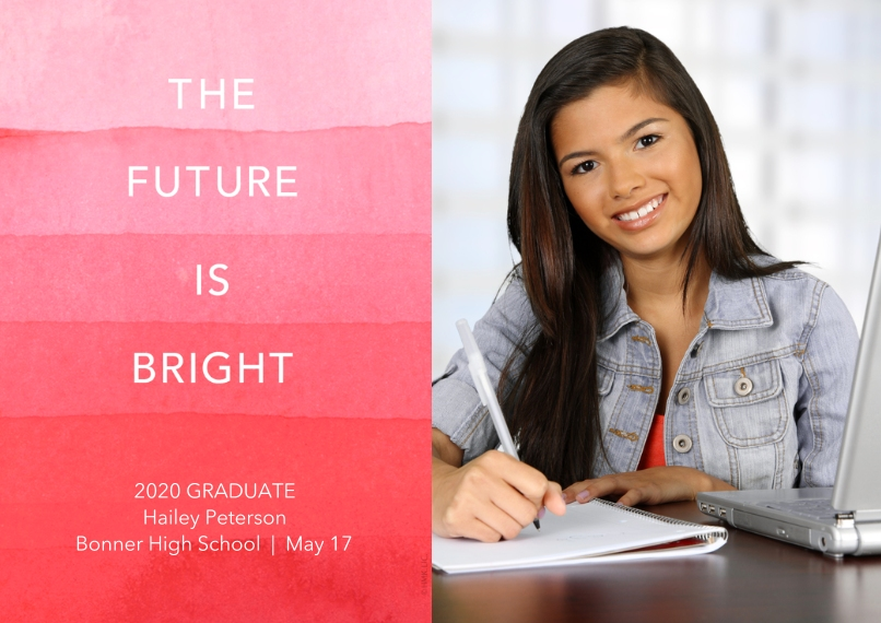 2020 Graduation Announcements 5x7 Cards, Standard Cardstock 85lb, Card & Stationery -The Future Is Bright Graduation Announcement by Hallmark