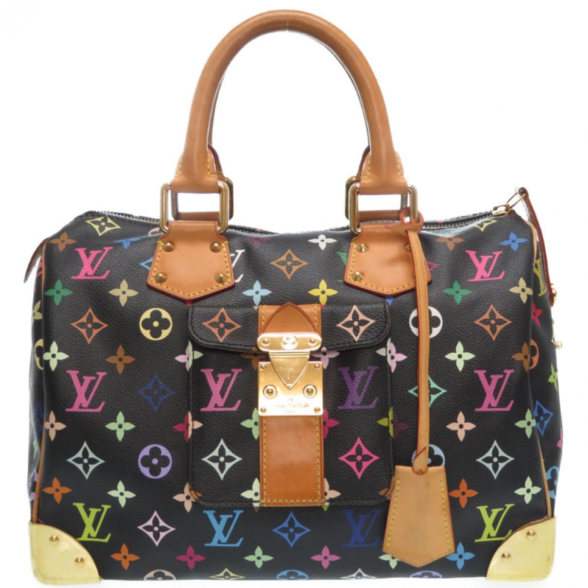Louis Vuitton Speedy Black Cloth handbag for Women \N