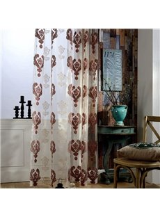 European Vintage Embroidered 2 Panels Blackout Custom Decorative Sheer Curtains