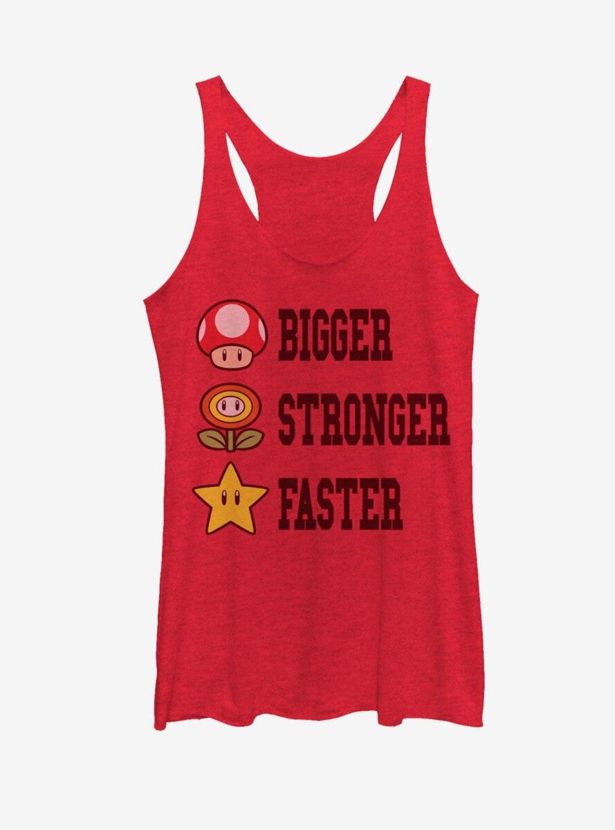 Nintendo Mario Bigger Stronger Faster Womens Tank