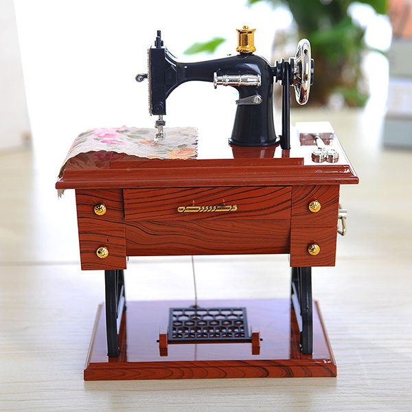 For Elise Music Box Classical Sewing Machine Creative Craft Home Decoration Birthday Present Gift
