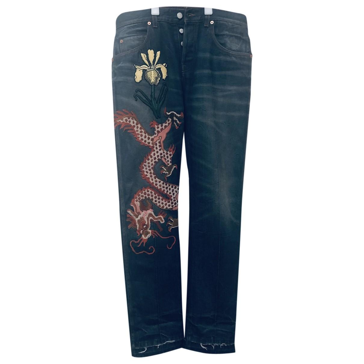 Gucci \N Blue Cotton Jeans for Men 33 US