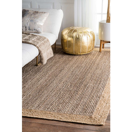 nuLoom Hand Woven Eleonora Rug, One Size , Gray