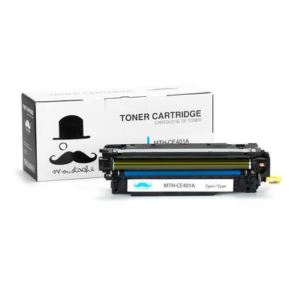 Compatible HP 507A CE401A Cyan Toner Cartridge - Moustache@