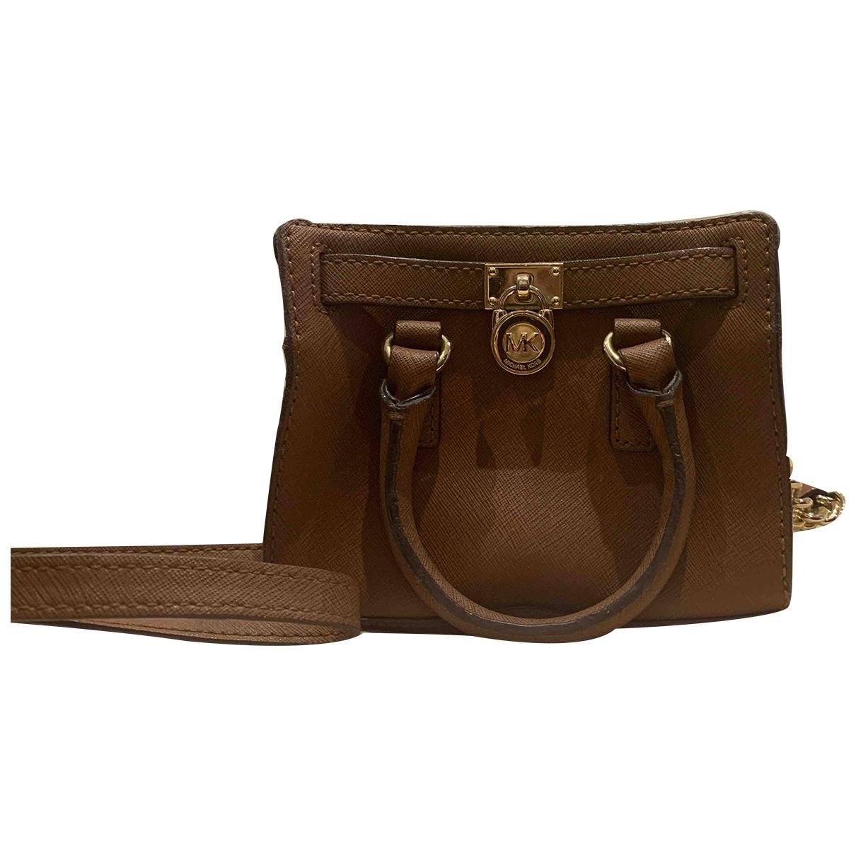 Michael Kors Hamilton Brown Leather handbag for Women \N