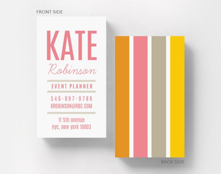 Textured Watercolor Business Card Standard Size - Business Cards